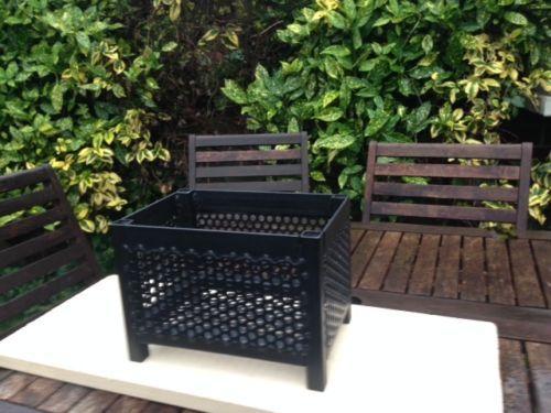 Pellet basket welded, fire basket grate burning fuel log ...