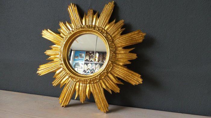 Vintage Spiegel Goud : Venetiaanse zonnespiegel hand verguld goud in perfecte staat