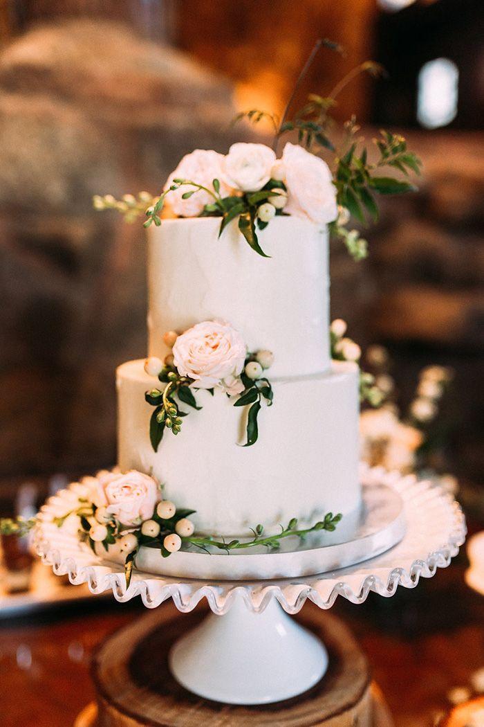 Fresh And Fun San Diego Wedding In Peach And Green Wedding Cake