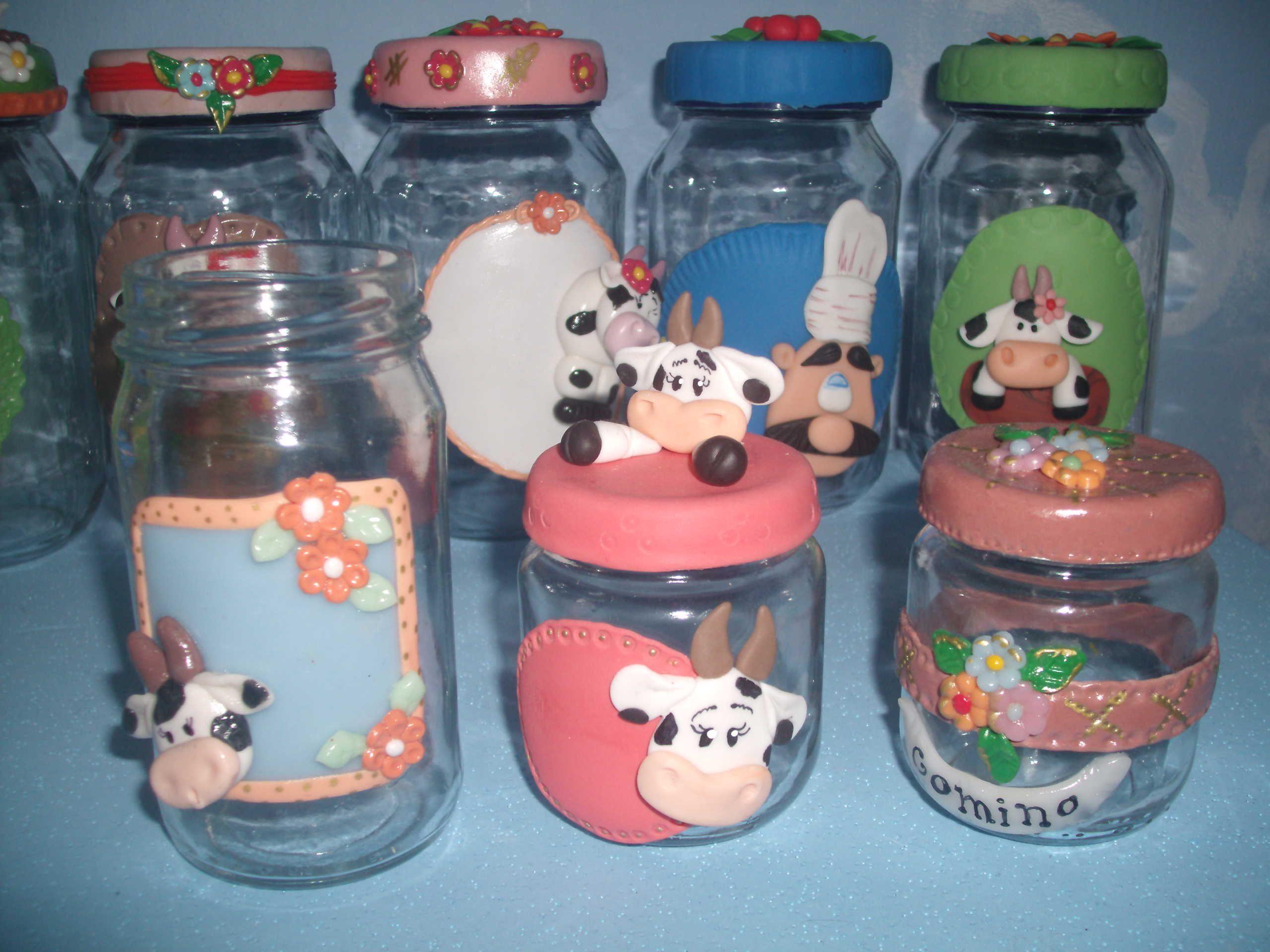 Frascos decorados frascos decorados pinterest for Envases de vidrio decorados