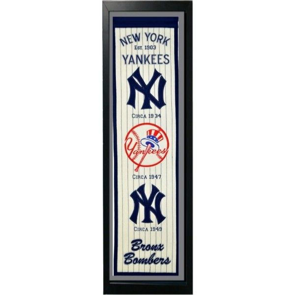 14x37 Banner Frame - New York Yankees | MLB Items available at ...