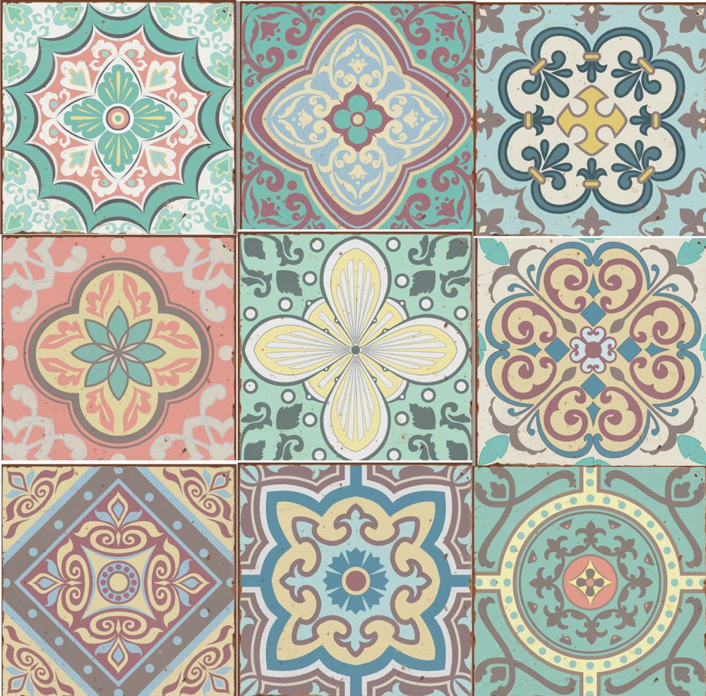 Details about Traditional tile transfers stickers wall
