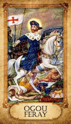Prayer Card - Ogou Feray (Ogou Feraille)