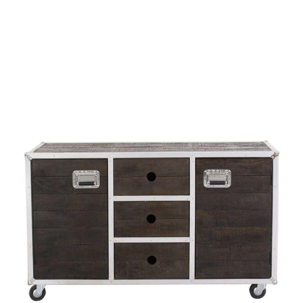 Küchenwagen im design sit dark roadies sideboard  schwarz alu sit möbel günstig