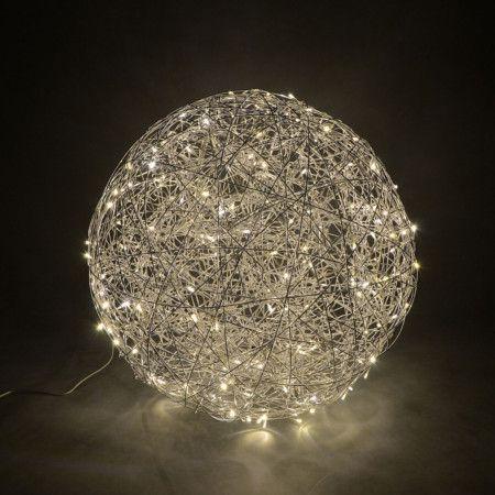 Bodenleuchte Draht Kugel 60cm Led Aluminium Lampe Aussenbeleuchtung