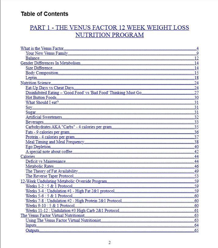 The Venus Factor Ebook