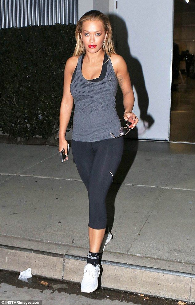 ba6688798f76d Get fit like Rita in a tank by Adidas. Click 'Visit' to buy now. #DailyMail