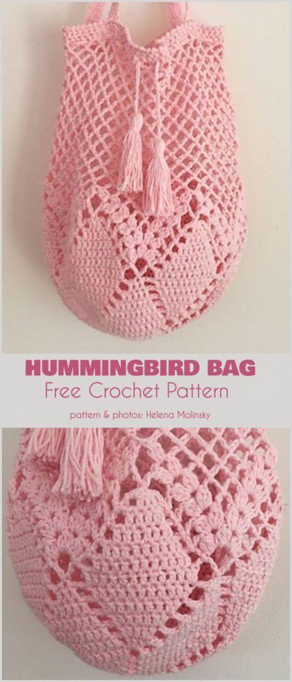 Hummingbird Bag Free Crochet Pattern