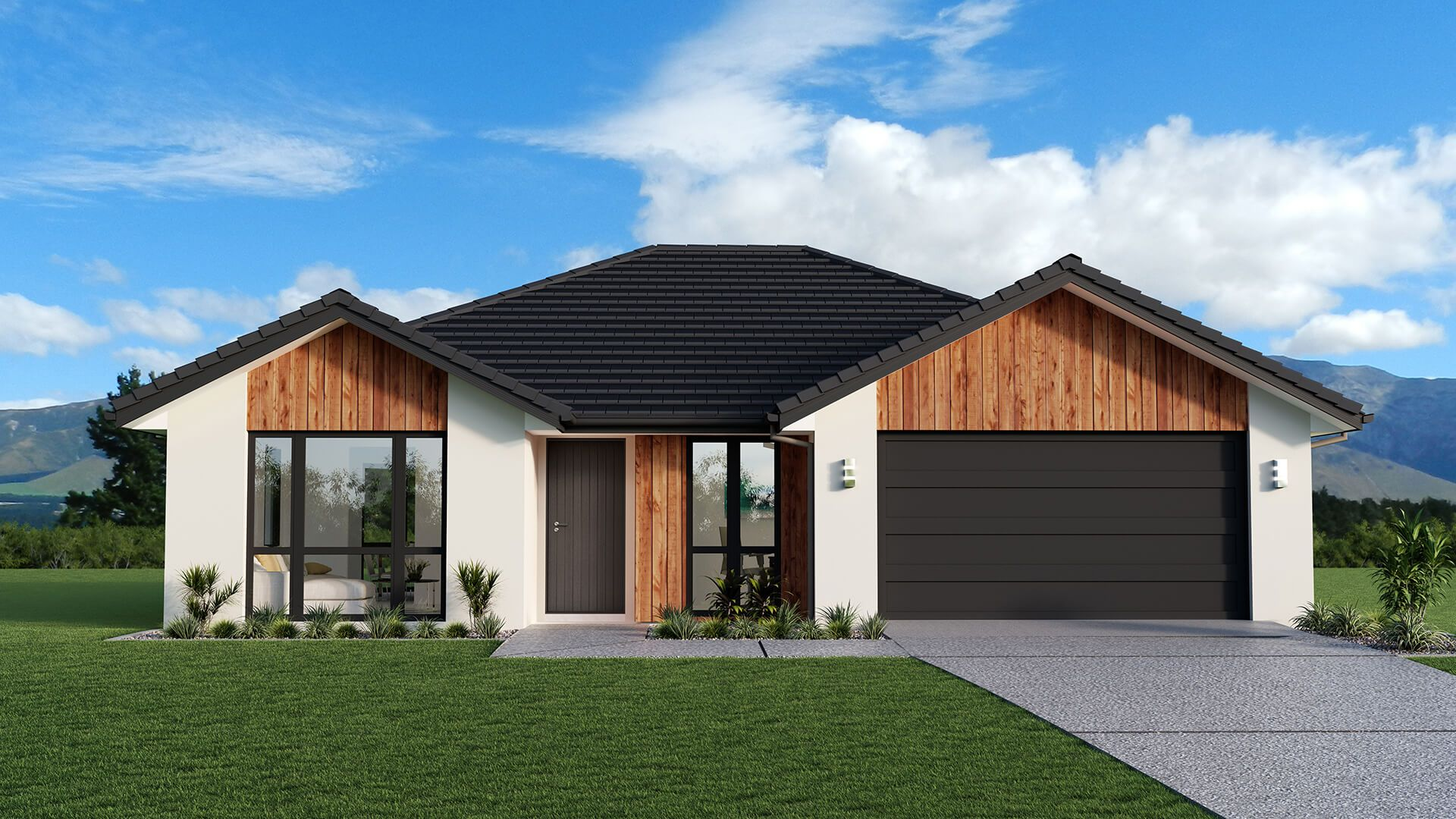 Renwick Design Gable Roofline Radiating Out From A Central Galley Kitchen Are Family Dinin Brick Exterior House House Exterior House Exterior Color Schemes
