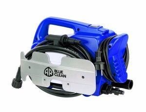 The AR Blue Clean AR118 1,500 PSI 1.5 GPM Hand Carry Electric Pressure Washer is equipped with 3 axial-piston wobble plate pump, long-lasting induction motor, gun-wand assembly with a fully adjustable spray head, detergent tank, water filter, detergent injector kit and high pressure hose. Rotary nozzle and TSS standard/option feature. GFCI and automatic safety valve with low pressure by-pass on all models.