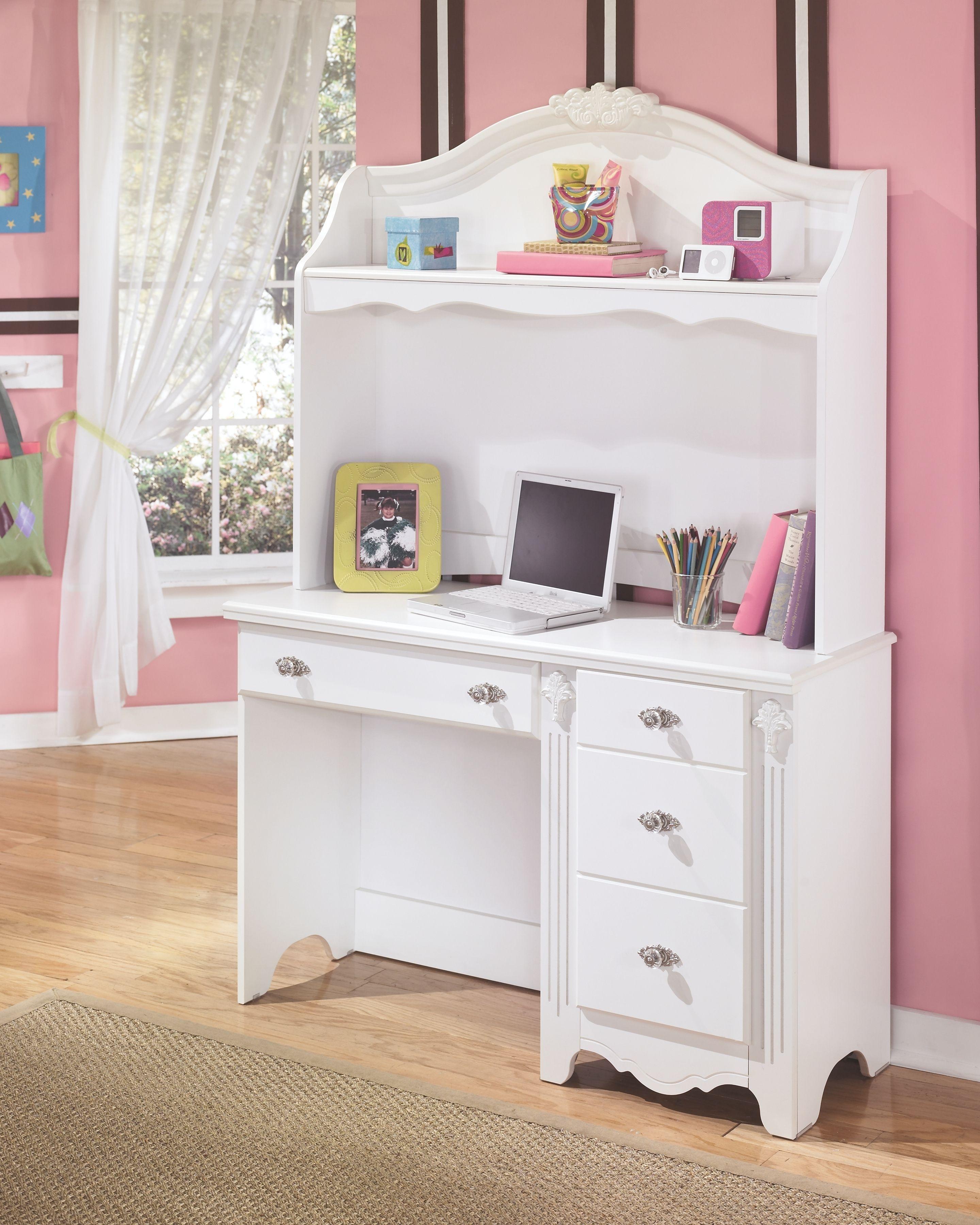 Photo of Exquisite – White – Desk with Hutch