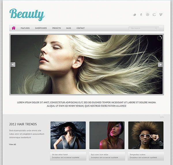 Responsive Beauty Website Template   Business   Pinterest   Beauty ...