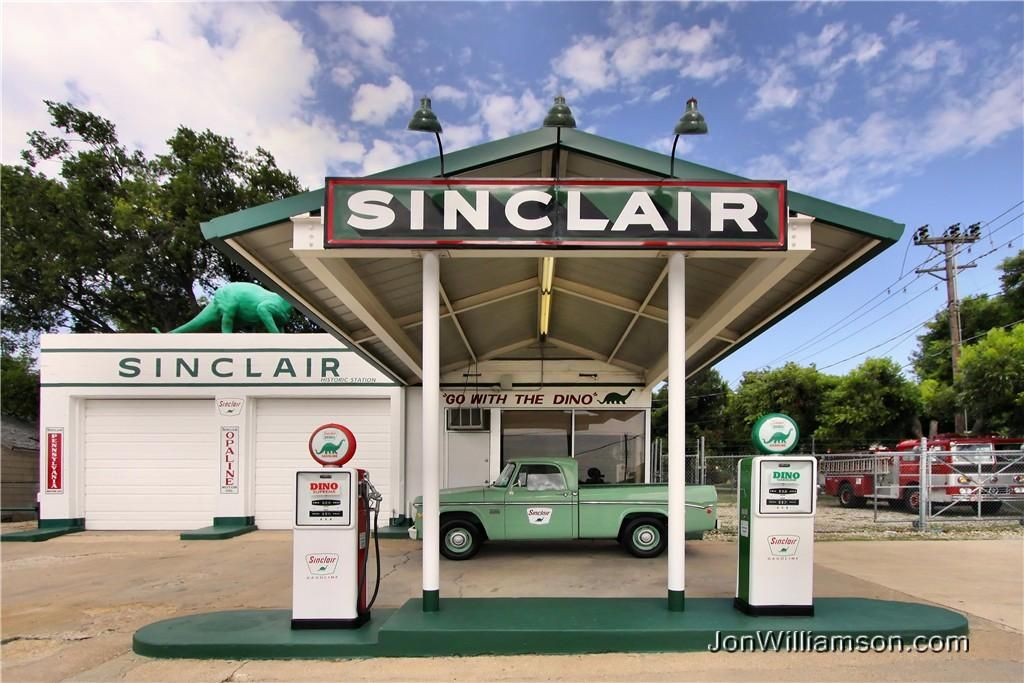 Sinclair Gas Station Dinosaur | Historic Sinclair Station | Vintage
