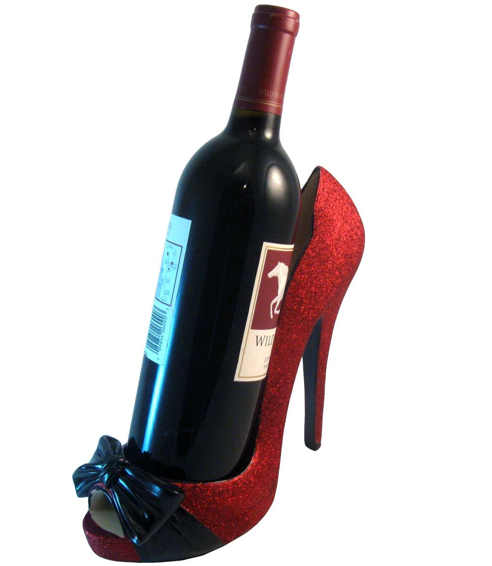 It Has Glitter And A Bow Wine Bottle Holders Bottle Holders Red Glitter Shoes