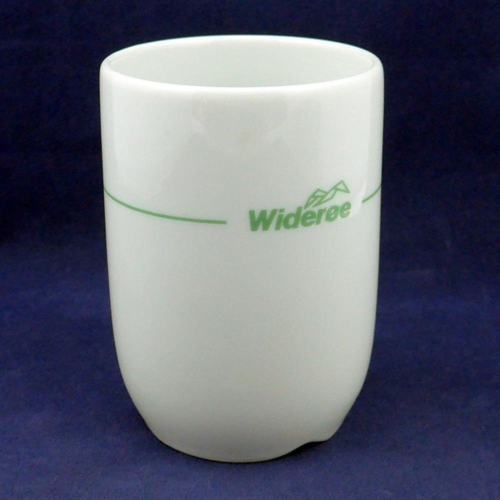 RARE Wideroe Airlines Porsgrund Norway Coffee Cup Demitasse Fine China Aviation