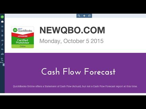 QuickBooks Online Tutorial QBO - How to Forecast Cash Flow - YouTube