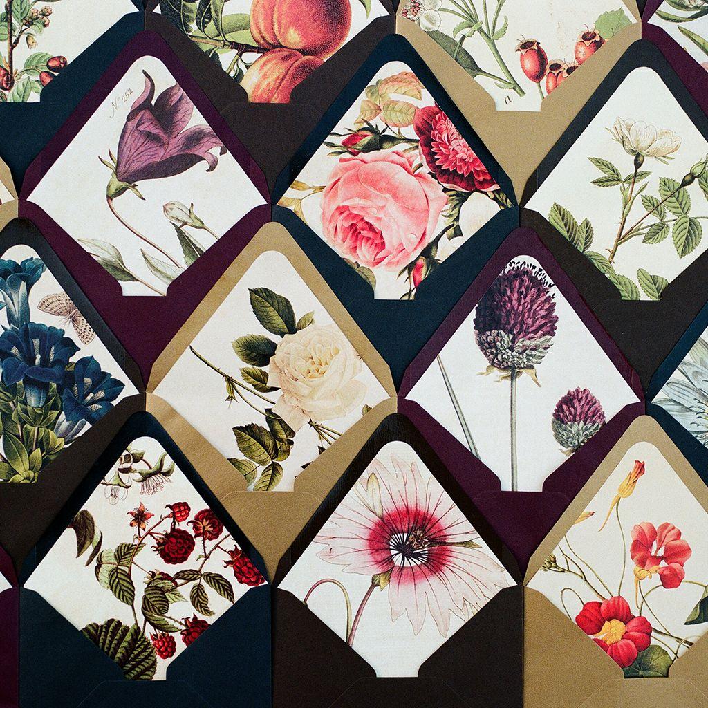 DIY Floral Envelope Liners | Envelopes, Events and Floral