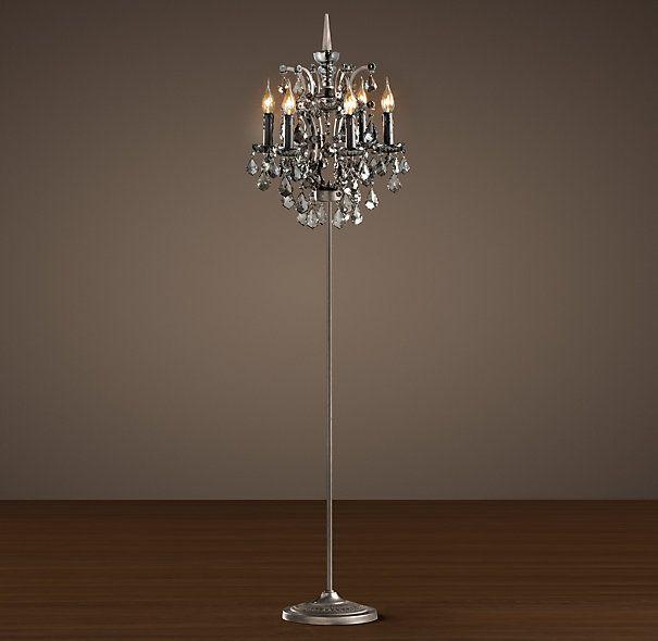 19th C. Rococo Iron U0026 Crystal Floor Lamp Smoke | Floor Lighting |  Restoration Hardware