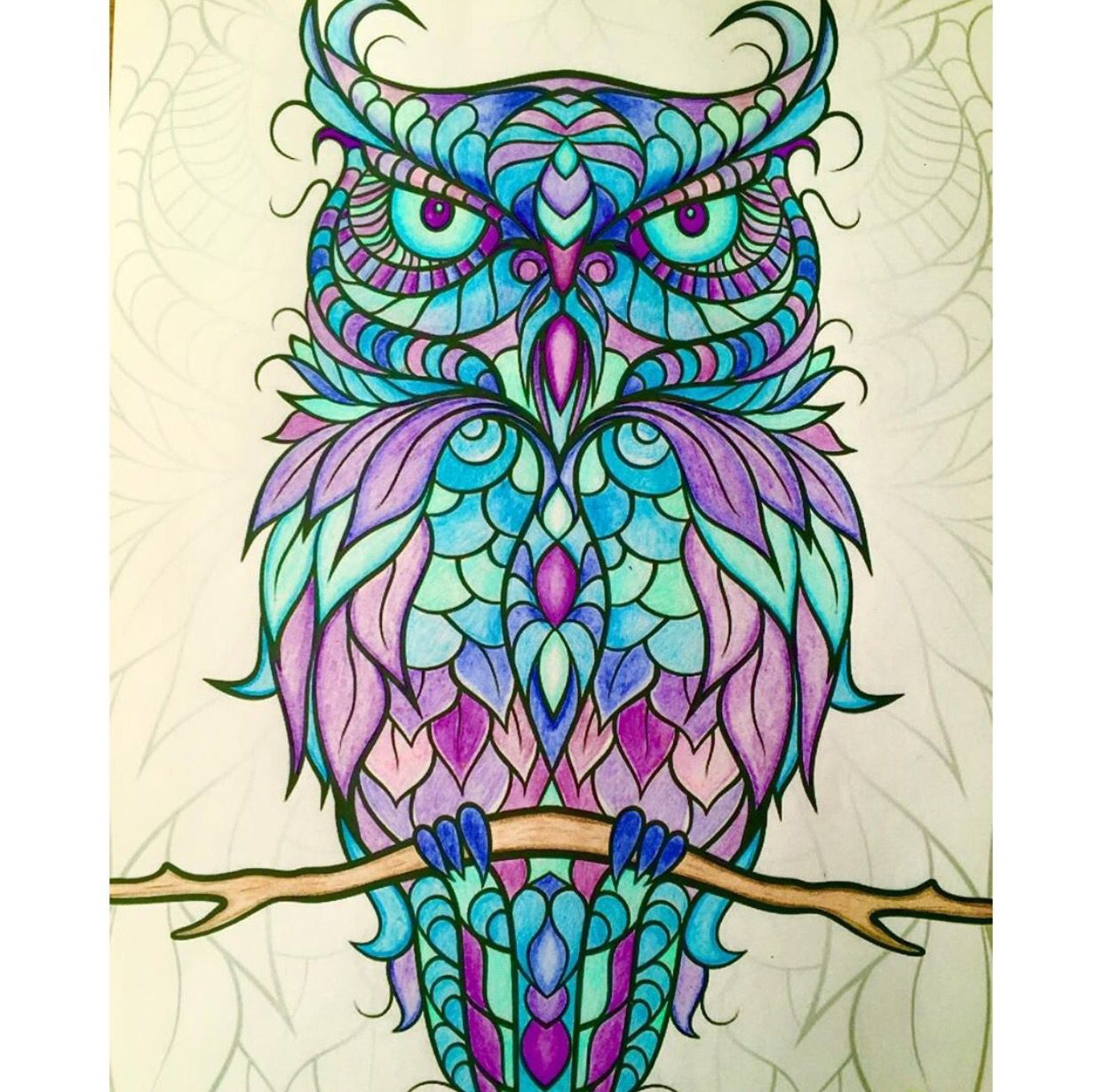 Pin On Finished Adult Coloring Pages