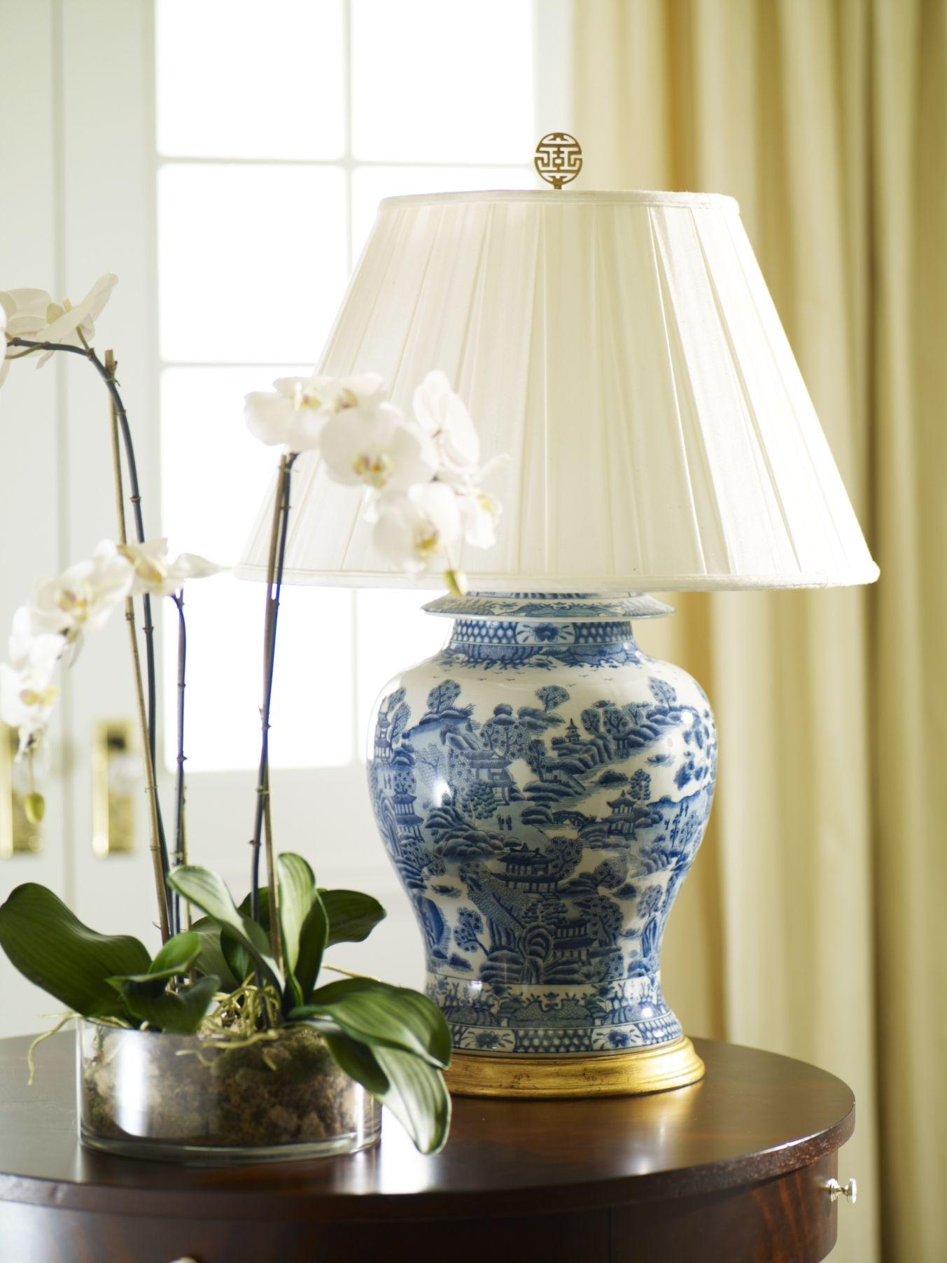 Classic Ginger Jar Table Lamp Ethan Allen Us Jar Table Lamp Blue And White Lamp Ginger Jar Lamp #white #living #room #lamps