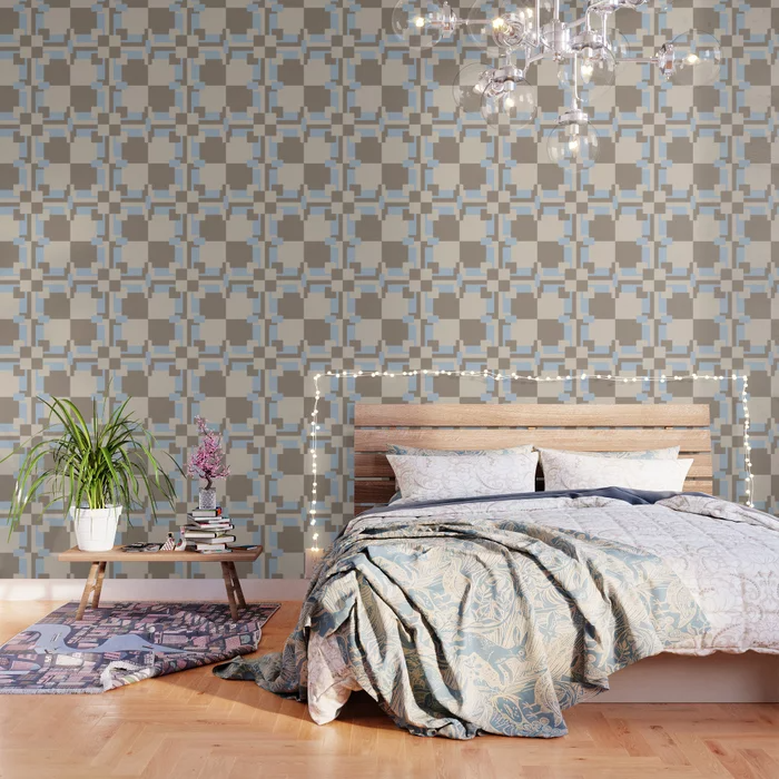 Buy Squares Wallpaper By Wagnerps Worldwide Shipping Available At Society6 Com Just One Of Millions Of High Quality In 2020 Wallpaper Pattern Wallpaper Fabric Panels