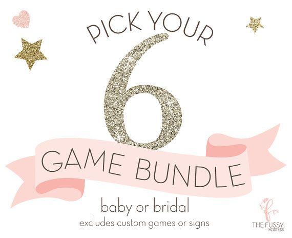 Shower Game Bundle Baby Shower Games Bridal Shower Games