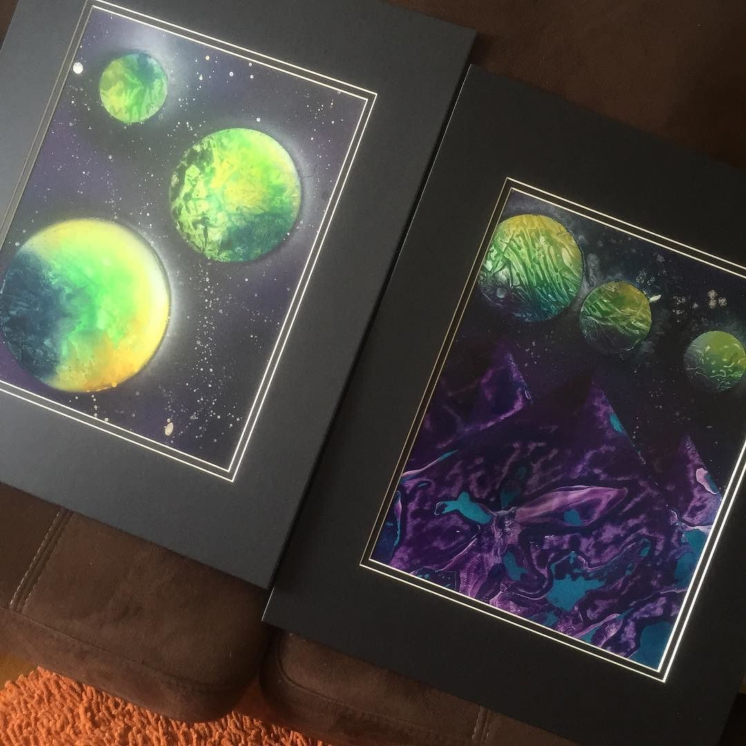 provocative-planet-pics-please.tumblr.com Freshly matted. #spraypaintart #planets #ascension #love #rainbow by thecanabides https://www.instagram.com/p/BAPny5QkWNL/
