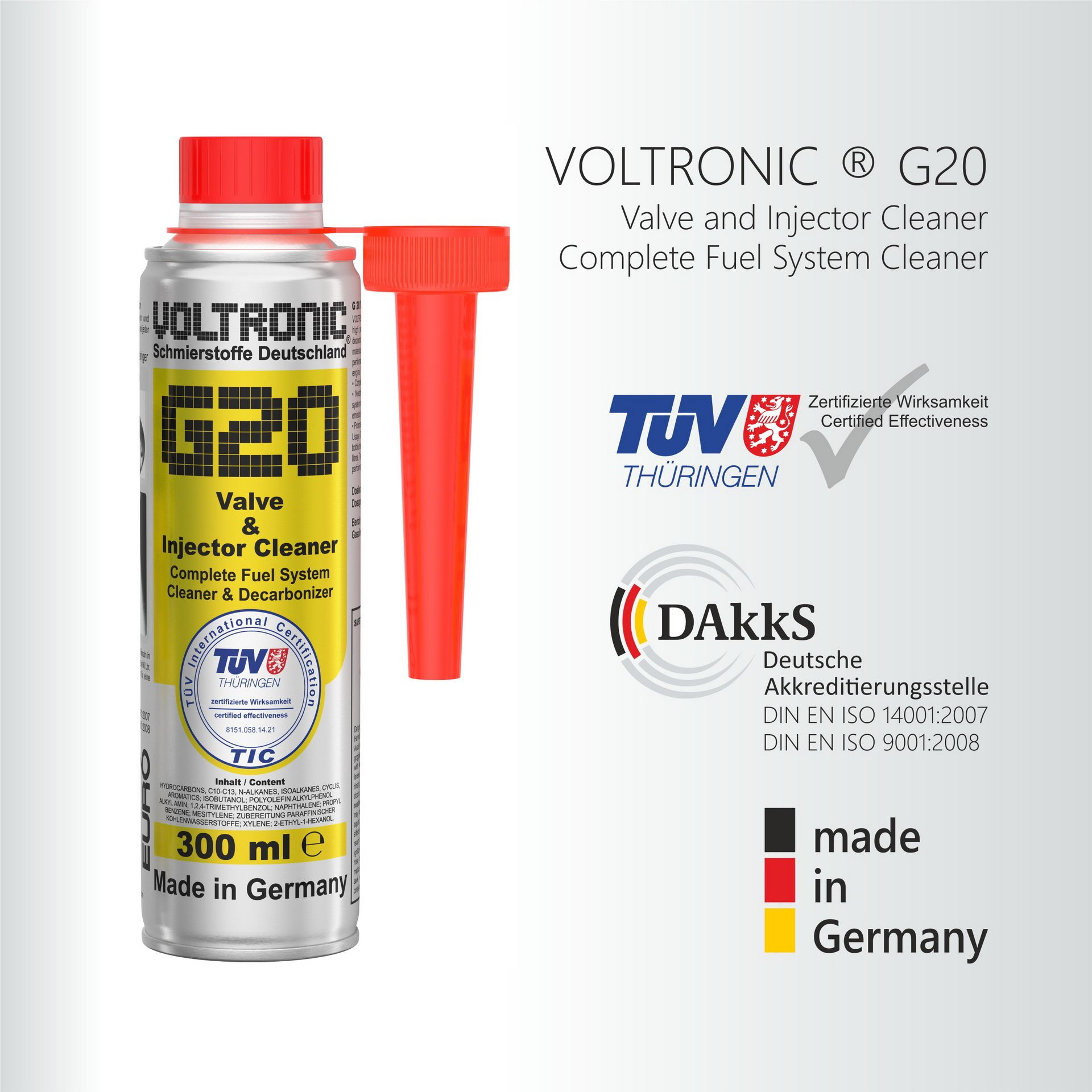 voltronic G20 Valve and Injector Cleaner Benzin, high