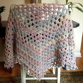 Trinity Prayer Shawl pattern by Orange September #prayershawls