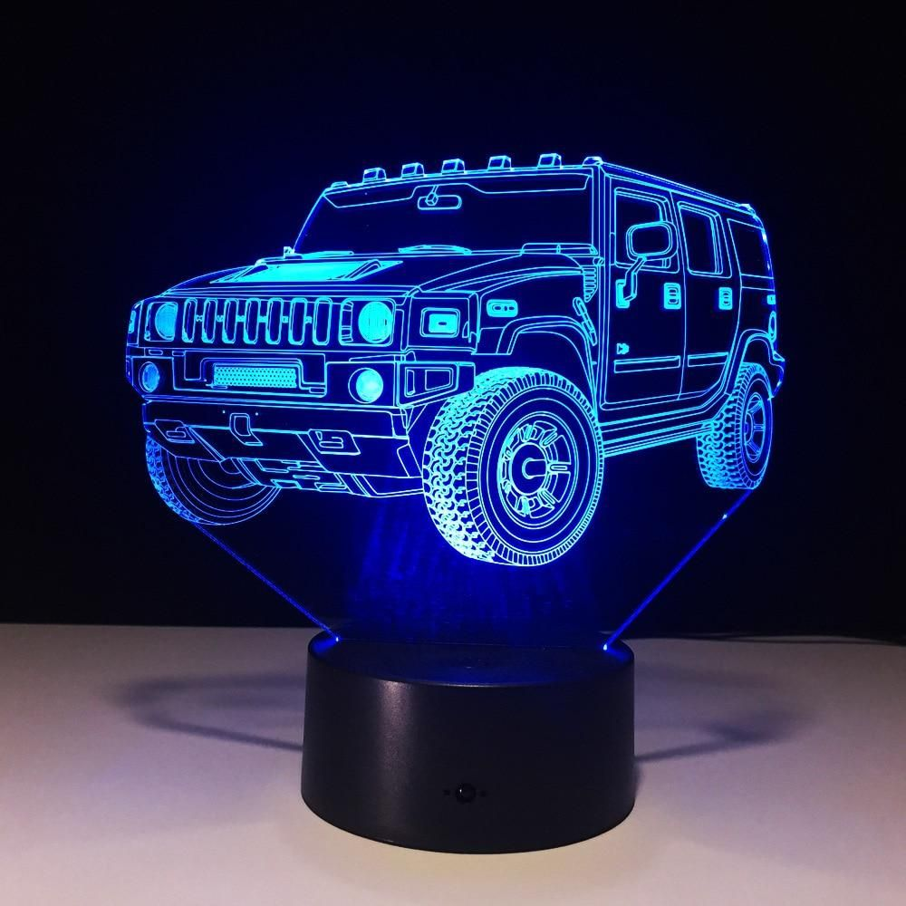 Hummer Novelty 3d Lamp Led Night Light Battery Mini Led Lights Battery Powered Night Led Lamp Led Mini Led Lights Night Light Lamp 3d Night Light