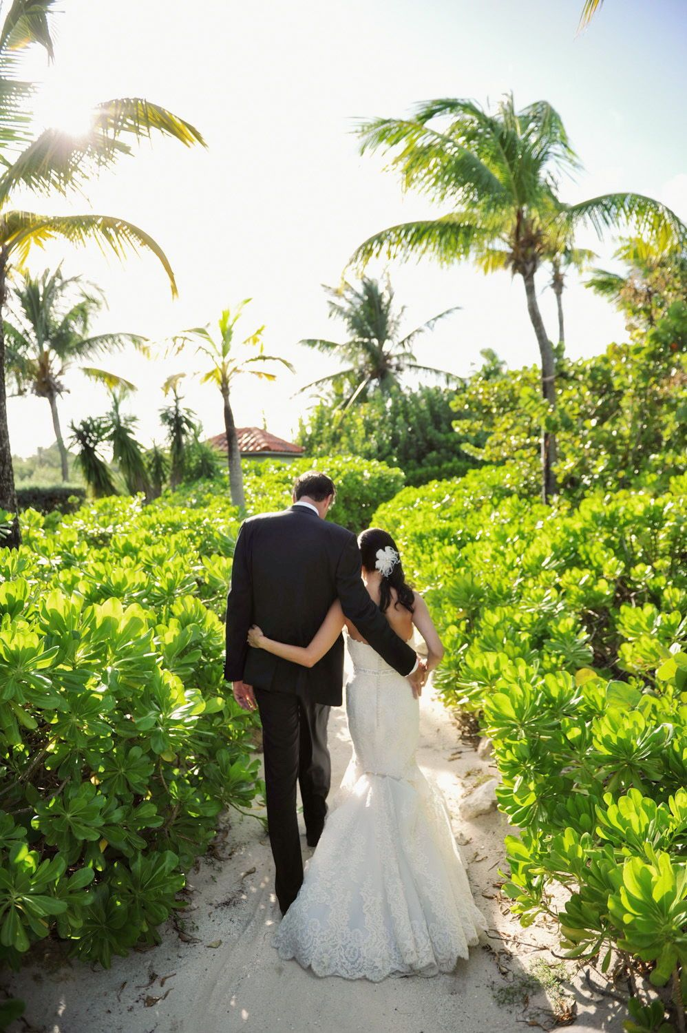 Caribbean wedding dress  Kathi u Joe  Destination wedding photographer