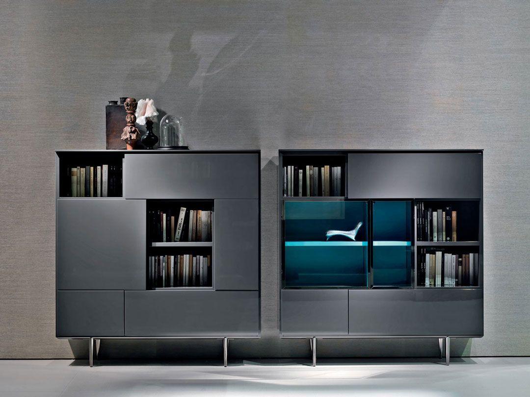Minotti Oboe Bookcase Pinterest Libreros Mobiliario  # Muebles Equilibrio