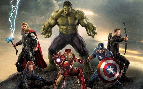 Painel Vingadores Marvel 1,50 x 1,00m