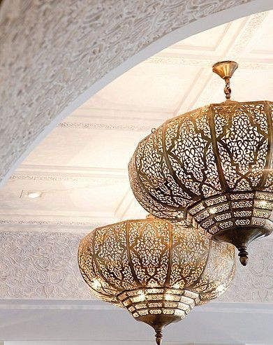 Moorish Style Middle Eastern Fretwork Metal Lamps Lights Light Light Fixtures