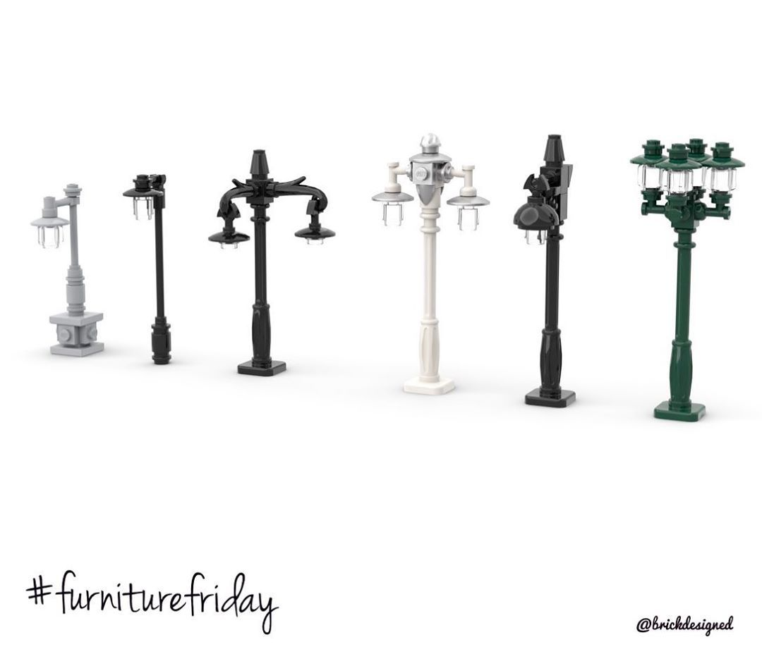 Brickdesigned On Instagram Furniturefriday Is Here With Street Lamps Or Lamp Posts I Actually Got Inspired To Experi Lamp Post Lego Lamp Lego Furniture