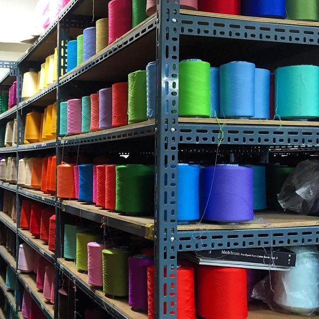 SOCKS FACTORY IN KOREA  #socks #socksbrand #sockstagram #socksbrand #brand #goldenrabbit #factory #thread #weave #weaving #knit #awesome #accessories #like4like #likeforlike #color #colour #colourful #accessories #machine