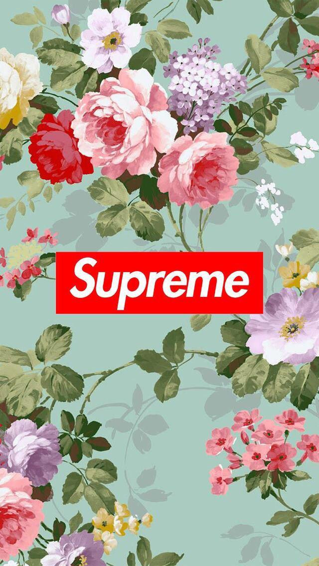 Wallpaper Background Supreme Flowers Wallpapers Wallpaper