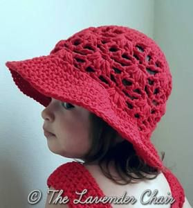 Weeping Willow Sun Hat for Baby Infant and Child - Free Crochet Pattern - The Lavender Chair