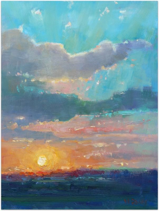 Sunset Port Alfred Oil Painting By Malcolm Dewey Painting In