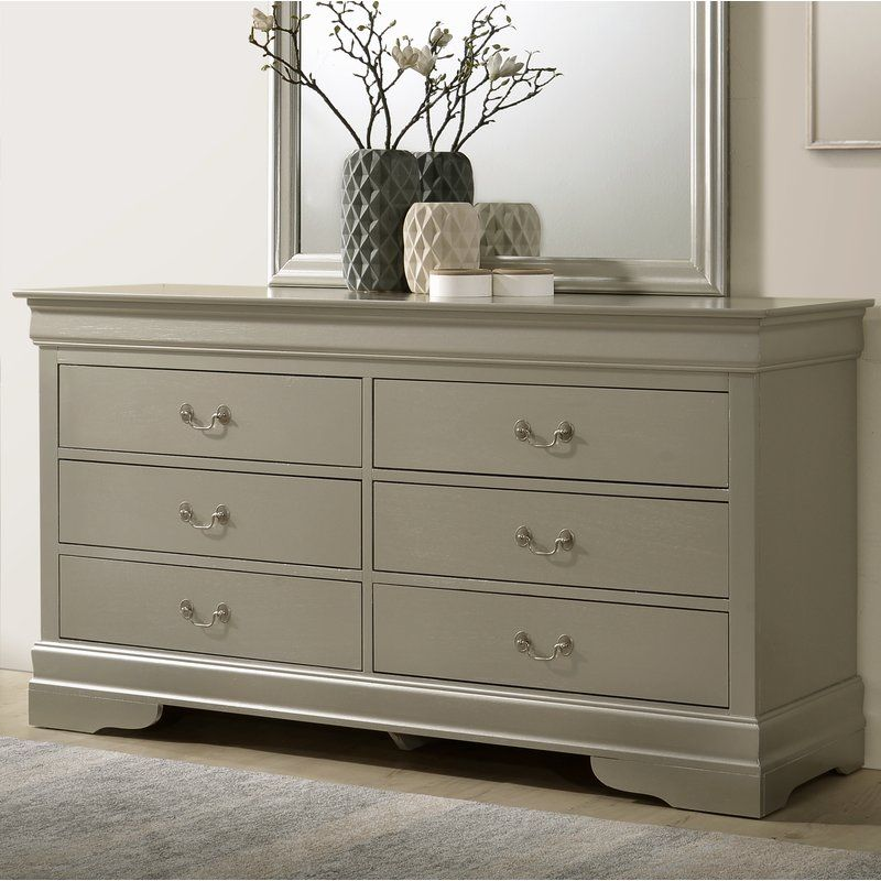 Babcock 6 Drawer Double Dresser Furniture Shabby Chic Furniture Double Dresser
