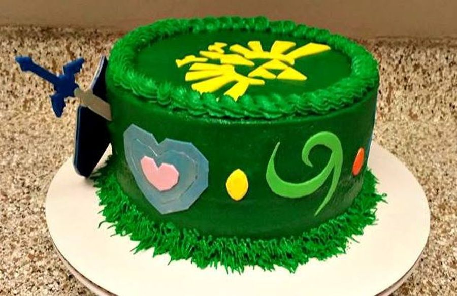 Zelda Birthday Cake Buttercream Cake Decorated For Zelda Video Game