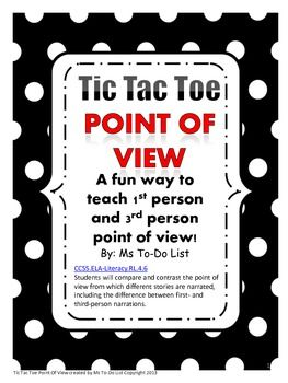This game is part of an ELA Game Bundle that you can find in my store for a discounted price!This is a fun way to teach point of view. My goal is to make my products easy to incorporate into the classroom with little prep work for the teacher. The colors are simple and easily print in black and white.