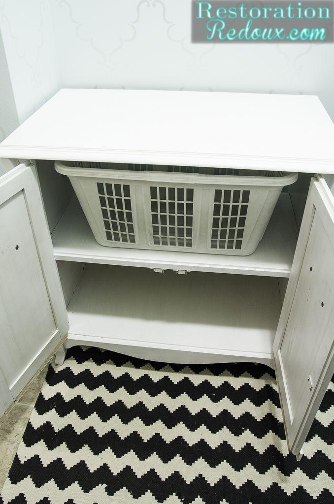 Vintage Cabinet Turned Laundry Hamper Laundry Hamper