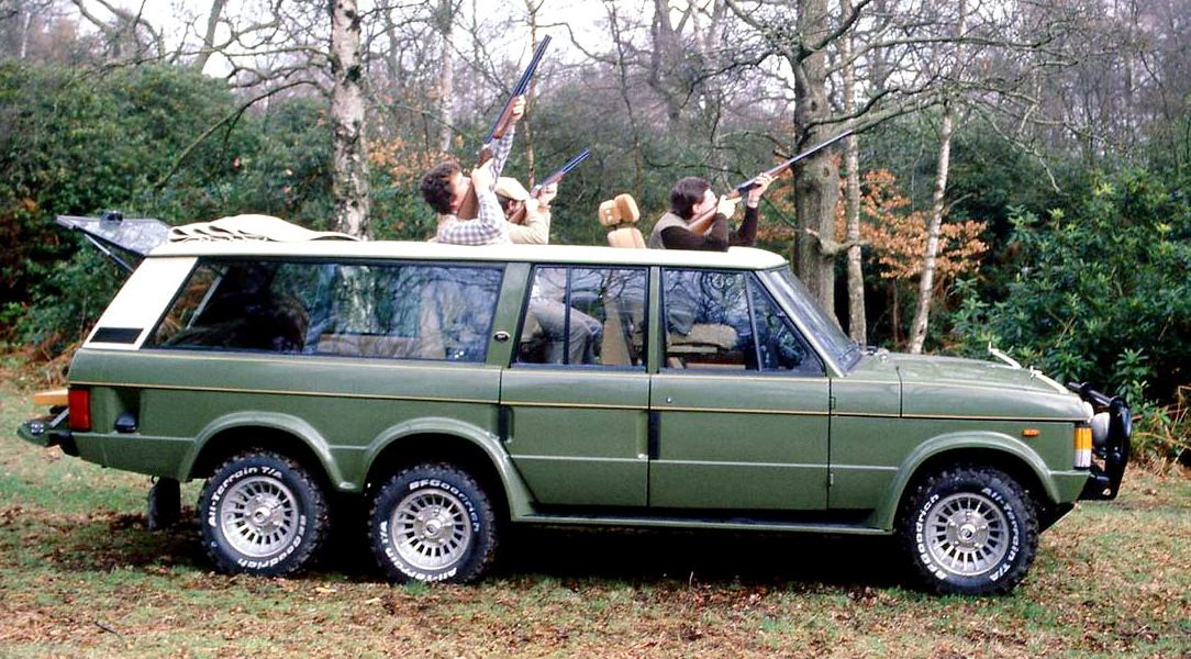 Carmichael Highlander, 1979. CoachbuildersCarmichael & Sons of Worcester built a number of 6-wheel... - #& #1970's #1979 #6 #6x6 #car #Carmichael #classic #coachbuilt #custom #Highlander #hunting #modified #Range #Rover #Sons #wheel
