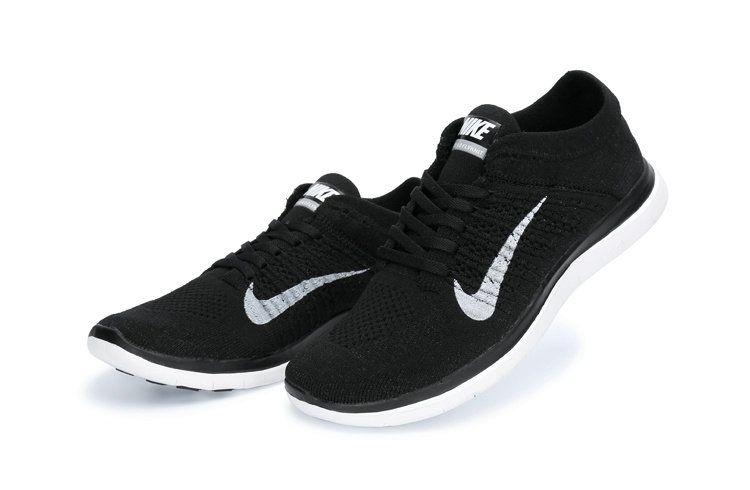 Free Shipping Only 69$ Nike WMNS Free 4.0 Flyknit Dark Grey Black SiLVSer