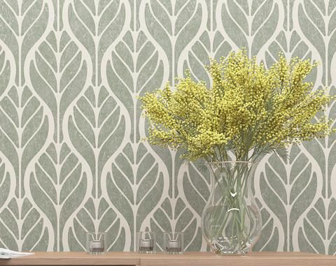 Wall Decor Stencil- Floral Pattern Stencil - Wall Stencil With Leafs ...
