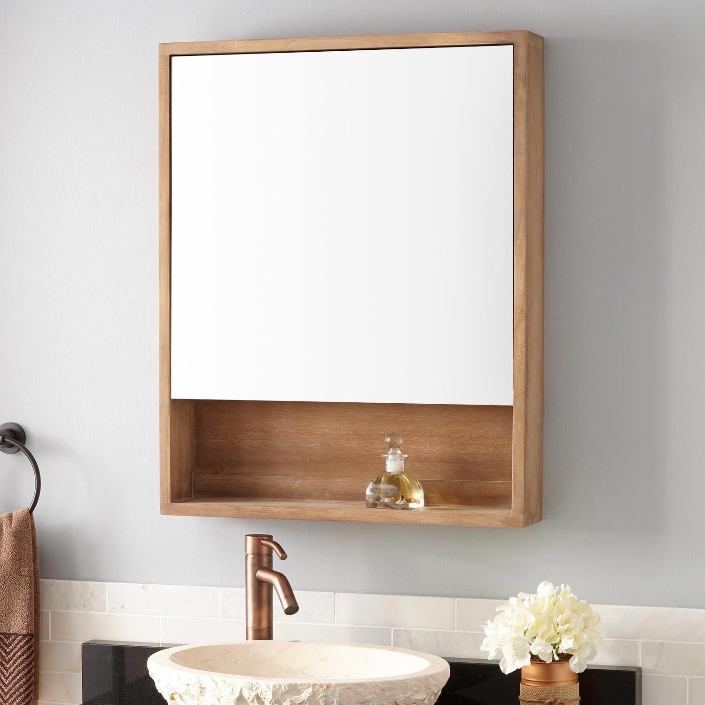24 Bastian Teak Medicine Cabinet Whitewash Surface Mount Cabinets Medicine Cabinets Bath Bathroom Cabinets Modern Master Bathroom Home Decor