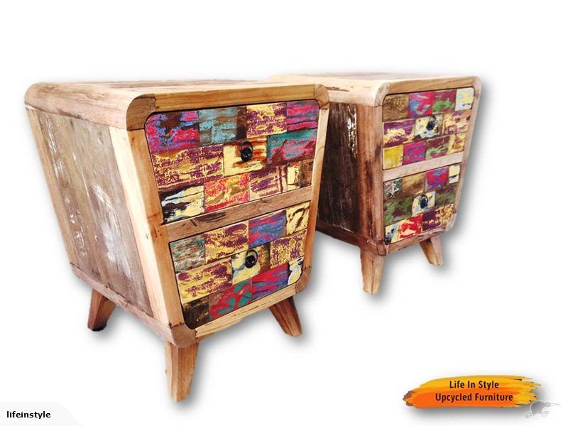 Best Bedside Tables Handmade Upcycled Wood Trade Me Bedside 400 x 300