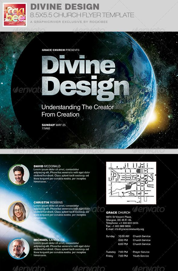 Divine Design Church Flyer Invite Template  Template Churches