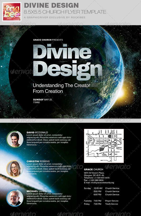 Divine Design Church Flyer Invite Template  Template Churches